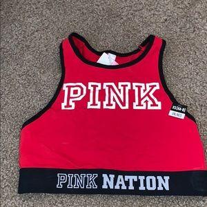 Red VS PINK sports bra